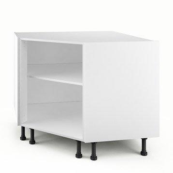 Caisson de cuisine bas d'angle PC100 DELINIA blanc L.100 x H.85 x P.56 cm