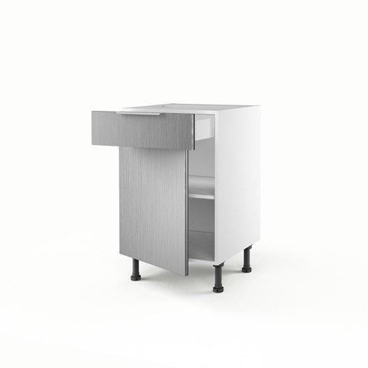 meuble de cuisine bas d cor aluminium 1 porte 1 tiroir stil x x leroy merlin. Black Bedroom Furniture Sets. Home Design Ideas