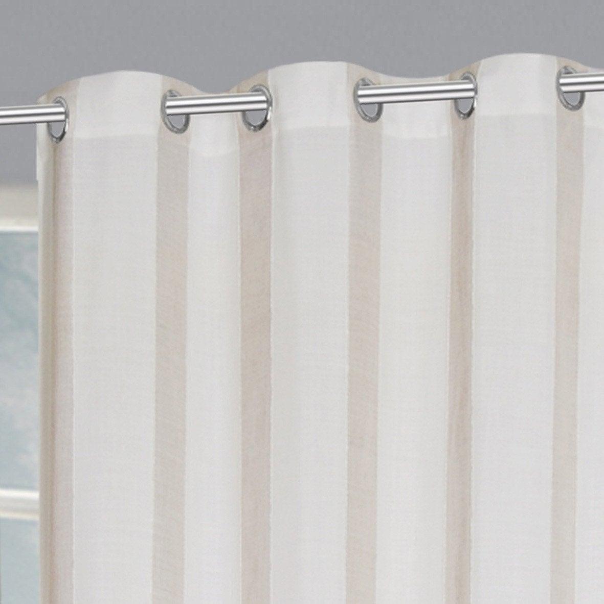 Rideau transparent, Madina banc/beige l.140 x H.260 cm