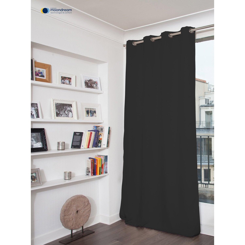rideau occultant thermique gris fonc x cm leroy merlin. Black Bedroom Furniture Sets. Home Design Ideas