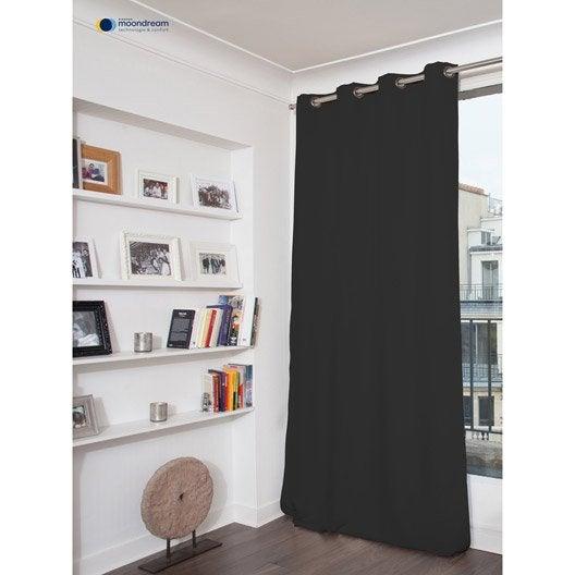 rideau occultant phonique thermique gris fonc x cm leroy merlin. Black Bedroom Furniture Sets. Home Design Ideas