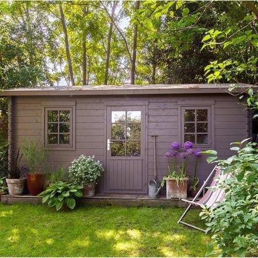 Abri de jardin bois Arto, 12.99 m² Ep.28 mm