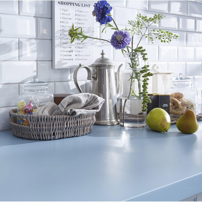 plan de travail stratifi bleu baltique 3 mat x. Black Bedroom Furniture Sets. Home Design Ideas