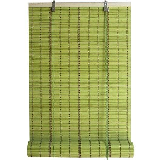 Store enrouleur tamisant bambou vert 150 x 250 cm for Store en bambou exterieur