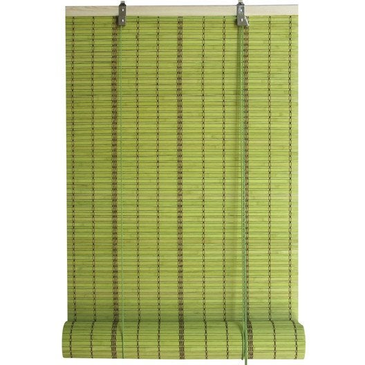 Store enrouleur tamisant bambou vert 150 x 250 cm - Store bambou exterieur leroy merlin ...