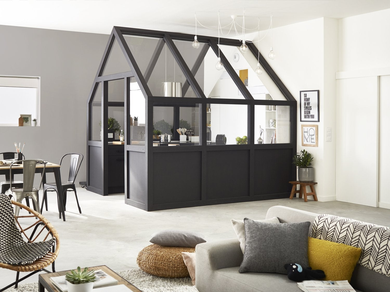 une cabane dans le salon leroy merlin. Black Bedroom Furniture Sets. Home Design Ideas