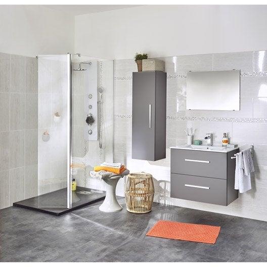 paroi de douche l 39 italienne open 2 profil chrom l. Black Bedroom Furniture Sets. Home Design Ideas