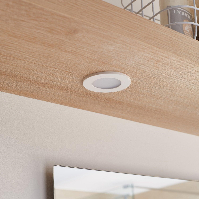 Kit 3 spots encastrer salle de bains bazao fixe inspire led int gr e blanc spot encastrable - Spot led salle de bain ...