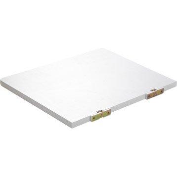 Etagère pour micro-onde blanc, L.50 x P.40 cm Ep.21 mm