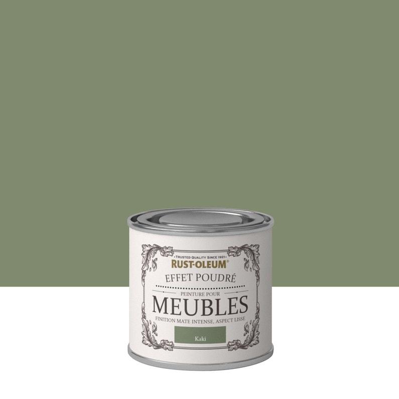 Peinture Pour Meuble Objet Et Porte Poudré Rustoleum Vert Kaki 0 125 L