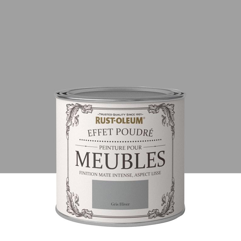 Peinture Pour Meuble Objet Et Porte Poudre Rustoleum Gris Hiver 0 5 L