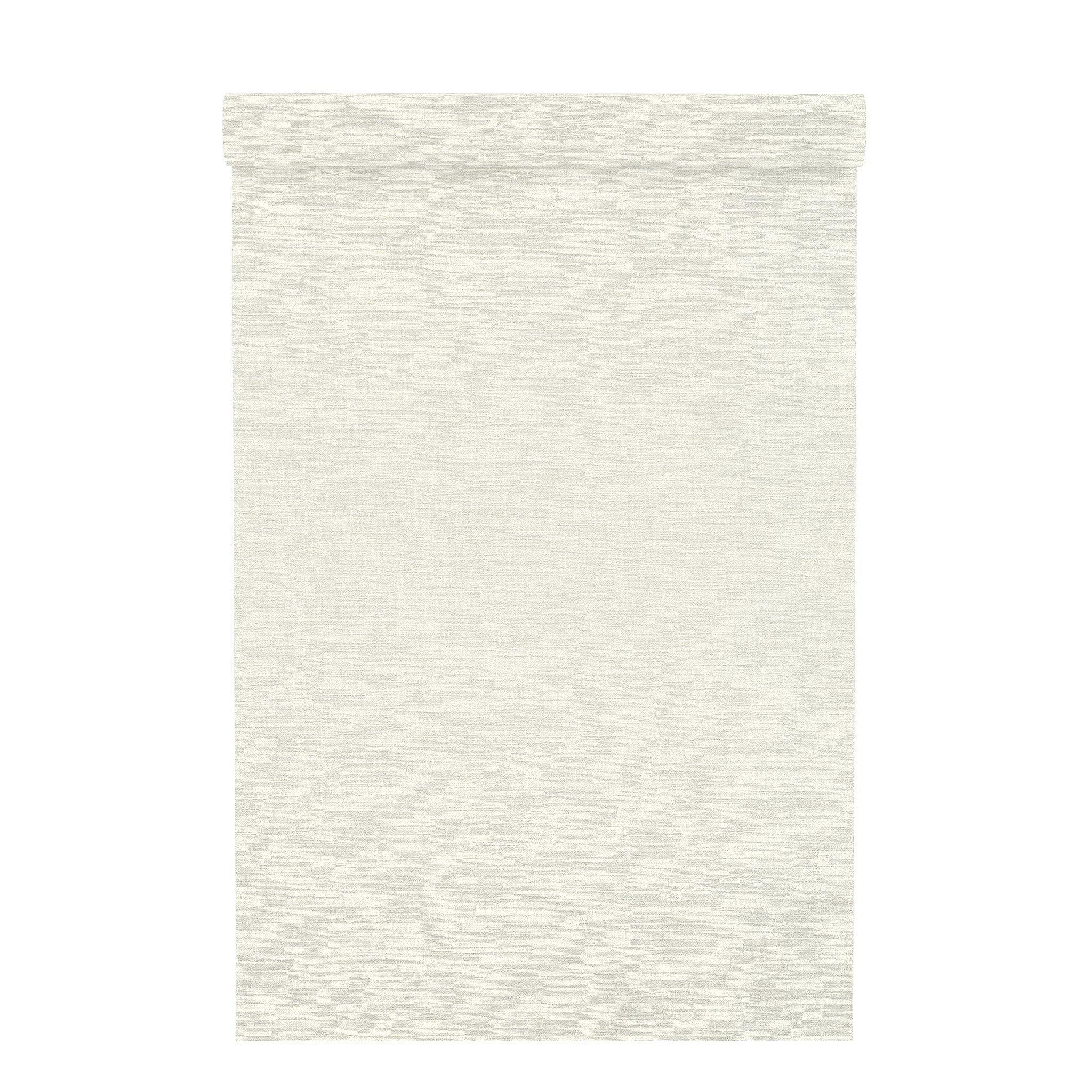 Papier peint vinyle sur intissé Carolyn uni blanc