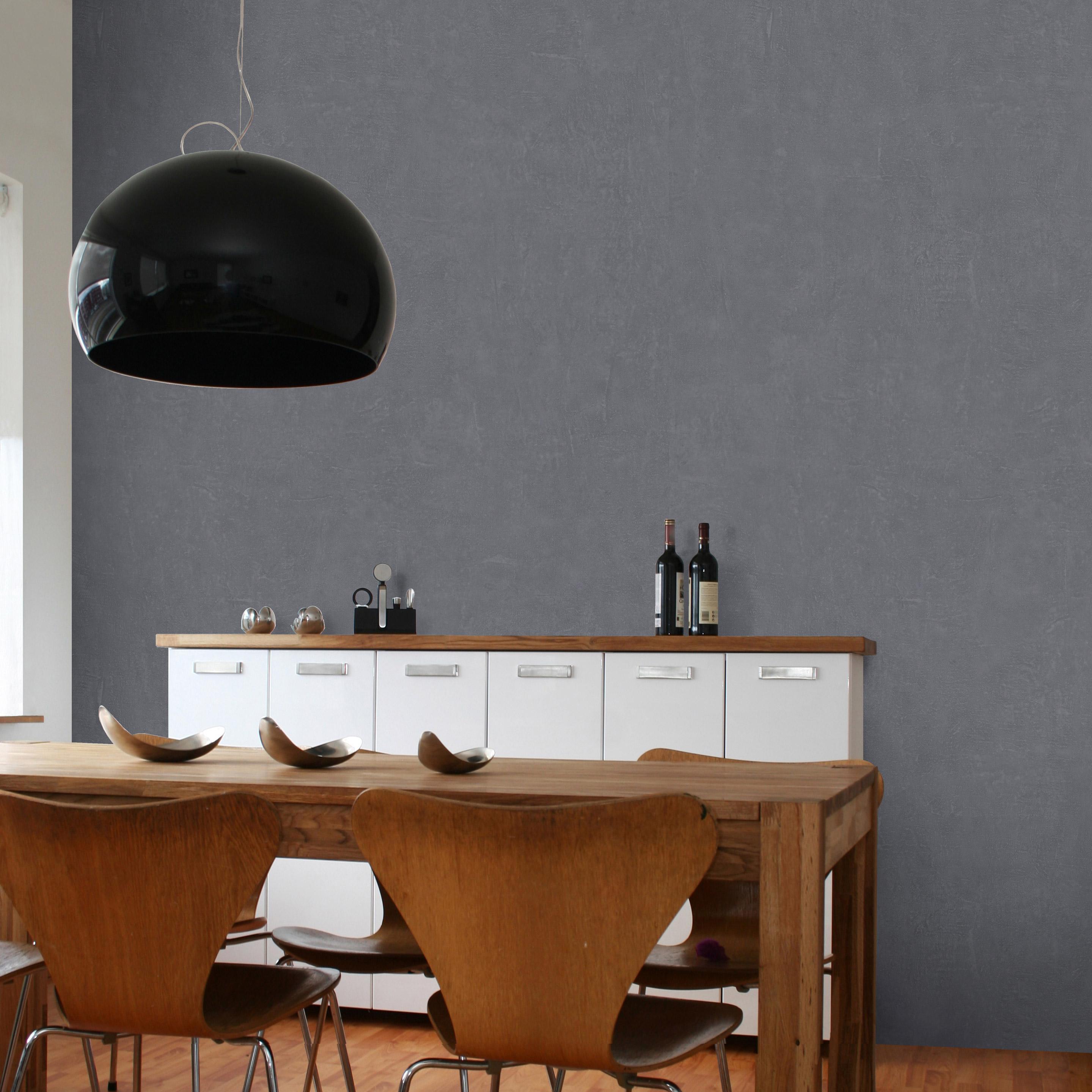 Papier peint vinyle Béton mat gris zingué