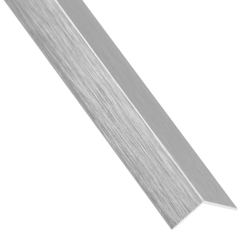 Cornière Adhésive Aluminium Brossé Gris L26 M X L195 Cm X H195 Cm