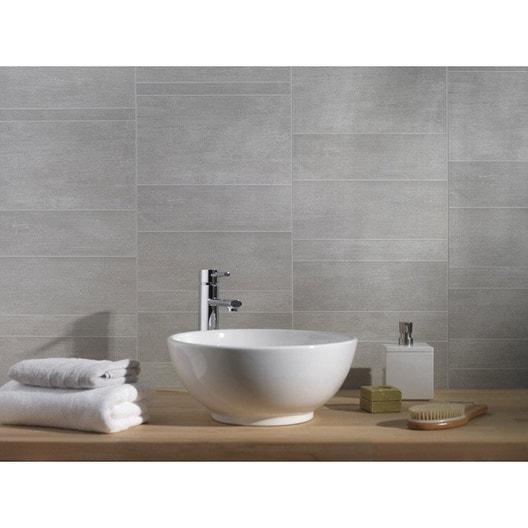 Lambris PVC Minéral Gris Moyen GROSFILLEX L X L Cm X Ep - Lambri pvc salle de bain