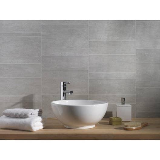 Lambris PVC minéral gris moyen GROSFILLEX L.260 x l.37.5 cm x Ep.8 ...