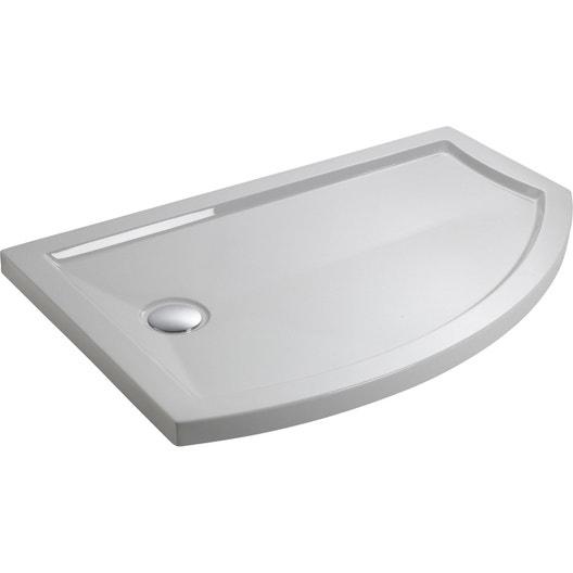 receveur de douche asym trique 140 x 90 cm acrylique blanc look version gauche leroy merlin. Black Bedroom Furniture Sets. Home Design Ideas