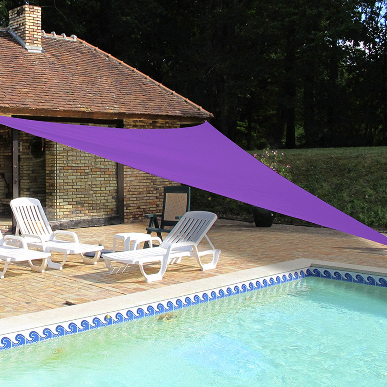voile d 39 ombrage triangle violet x cm leroy merlin. Black Bedroom Furniture Sets. Home Design Ideas
