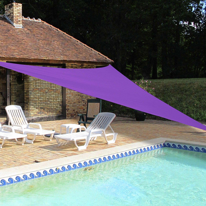 Voile d\'ombrage triangle violet L.500 x l.500 cm | Leroy Merlin