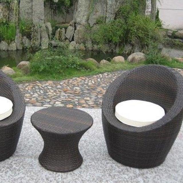 salon de jardin totem chocolat 2 personnes leroy merlin. Black Bedroom Furniture Sets. Home Design Ideas