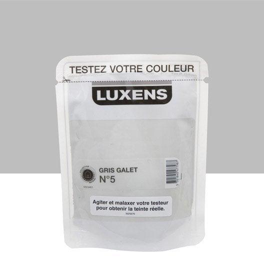 Testeur peinture gris galet 5 luxens couleurs int rieures for Peinture luxens gris galet