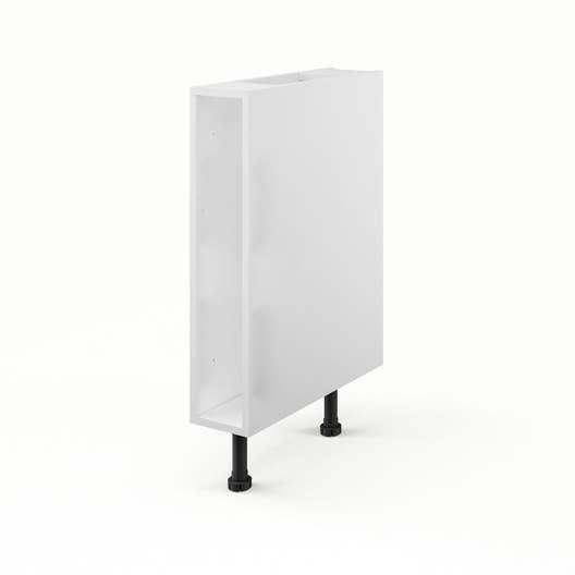 caisson de cuisine bas b15 delinia blanc l15 x h85 x p56 cm