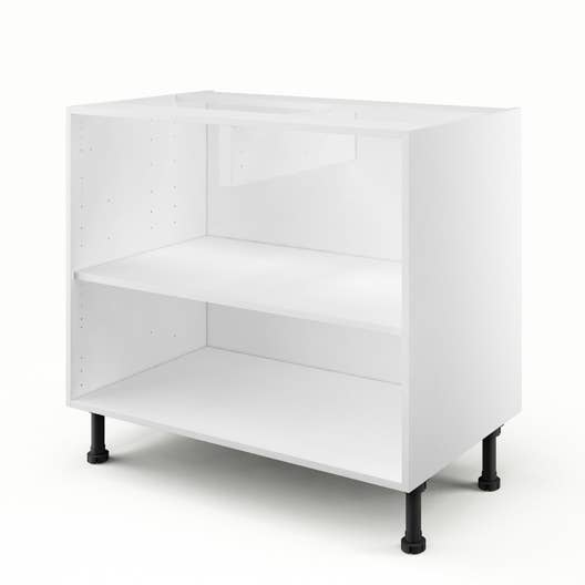 caisson de cuisine bas b90 delinia blanc x x cm leroy merlin. Black Bedroom Furniture Sets. Home Design Ideas
