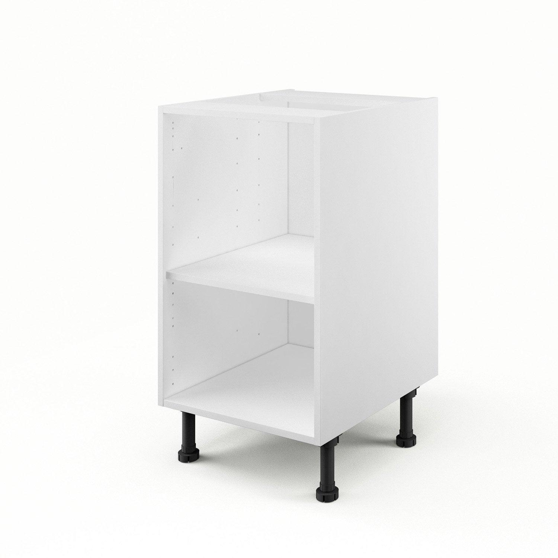 caisson de cuisine bas b45 delinia blanc x x p. Black Bedroom Furniture Sets. Home Design Ideas