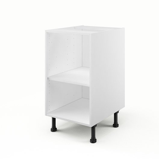caisson de cuisine bas b45 delinia blanc x x p. Black Bedroom Furniture Sets. Home Design Ideas