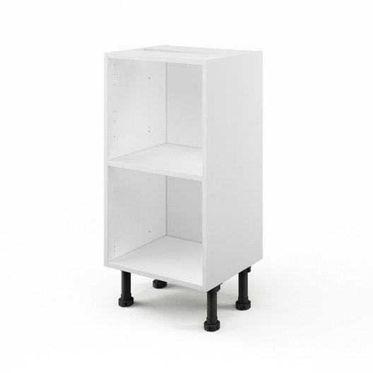 Meuble de cuisine bas 1 porte + 1 tiroir, blanc, h86x l40x p60cm ...