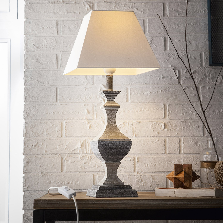 lampe e27 portofino corep coton sur pvc gris 40 w leroy merlin. Black Bedroom Furniture Sets. Home Design Ideas