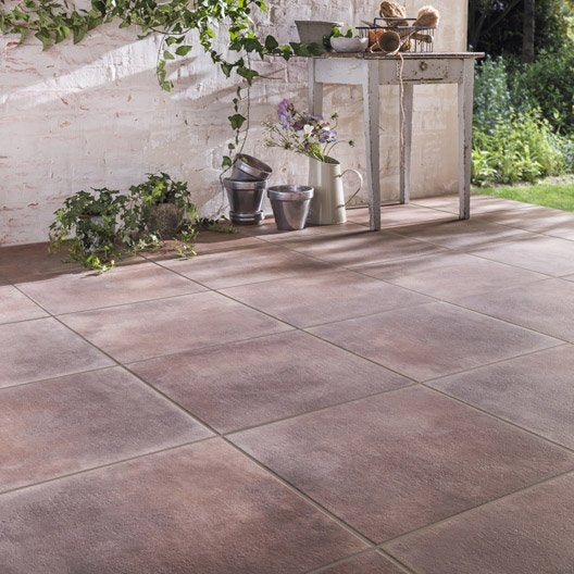 Carrelage sol marron effet pierre dolce vita x for Carrelage sol marron