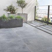 Carrelage sol noir effet pierre Dolce vita l.60 x L.60 cm