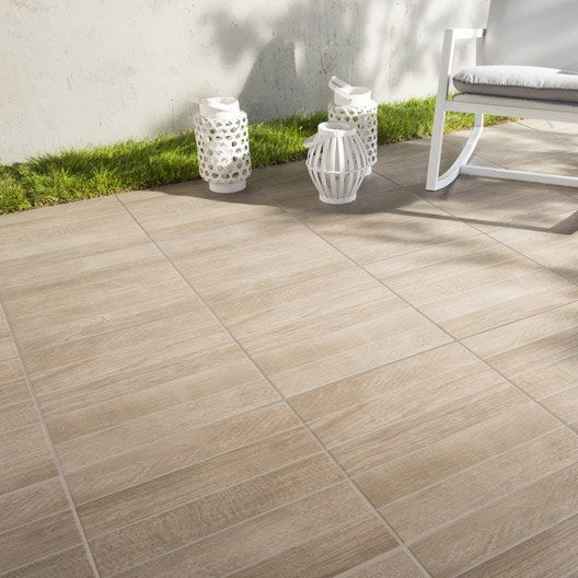 Carrelage sol brun effet bois jungle x cm for Carrelage sol exterieur leroy merlin