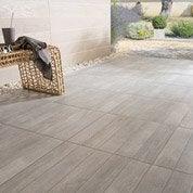 Carrelage sol gris effet bois Jungle l.45 x L.45 cm
