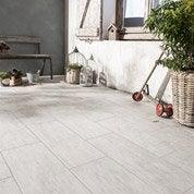 Carrelage sol blanchi effet bois River l.20 x L.60.4 cm