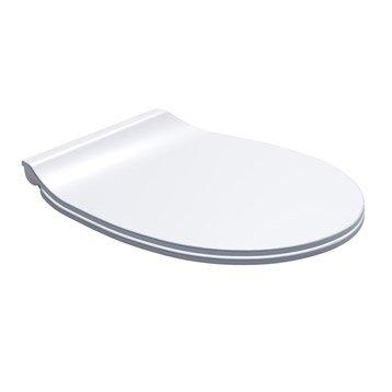 Abattant frein de chute déclipsable blanc plastique thermodur, DUBOURGEL Push'n