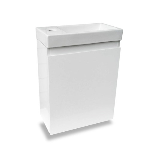meuble lave mains sans miroir blanc l40 x p22