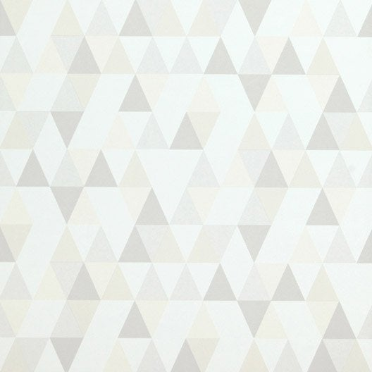 Papier peint intiss hej blanc beige clair beige fonc for Papier peint couleur taupe clair