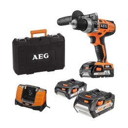 Perceuse à percussion sans fil AEG POWERTOOLS, 18 V 5 Ah, 3 batteries
