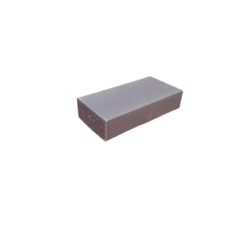 brique r fractaire x 11 x 5 cm gris anthracite leroy merlin. Black Bedroom Furniture Sets. Home Design Ideas