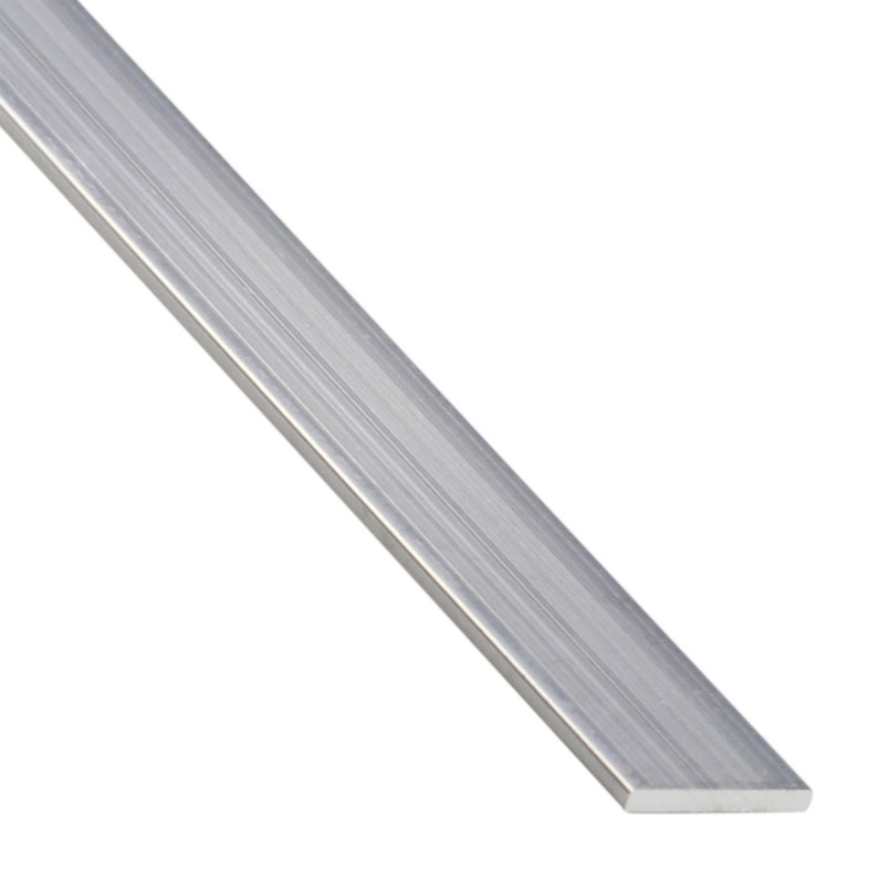 Plat Aluminium Brut Argent L1 M X L15 Cm X H02 Cm
