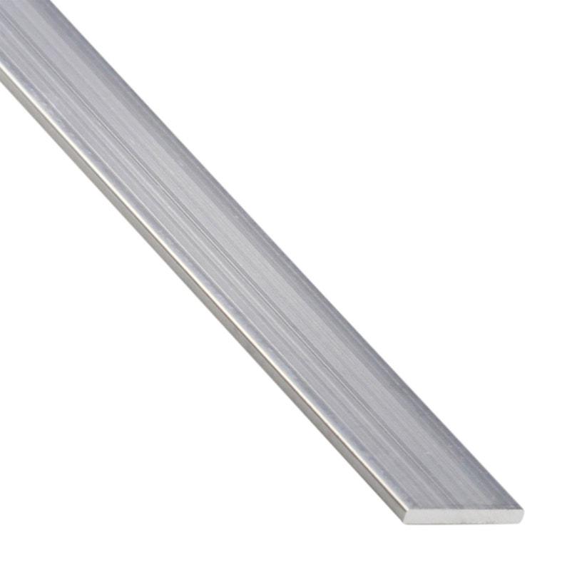 Plat Aluminium Brut Argent L26 M X L1 Cm X H02 Cm