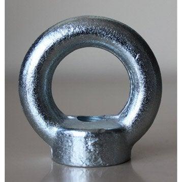 1 anneau-écrou à visser acier zingué, Diam.10, STANDERS