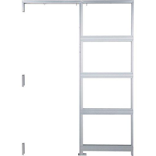 Syst me galandage aluminium artens pour porte de largeur for Epaisseur cloison pour porte a galandage