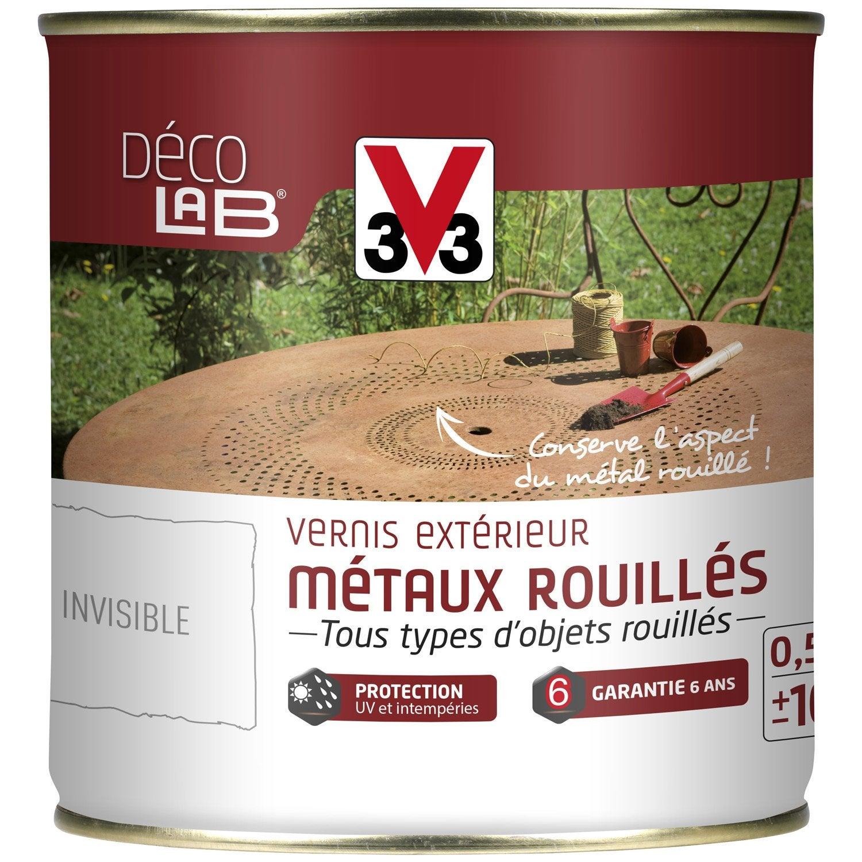 vernis fer ext rieur d co v33 incolore 0 5 l leroy merlin. Black Bedroom Furniture Sets. Home Design Ideas