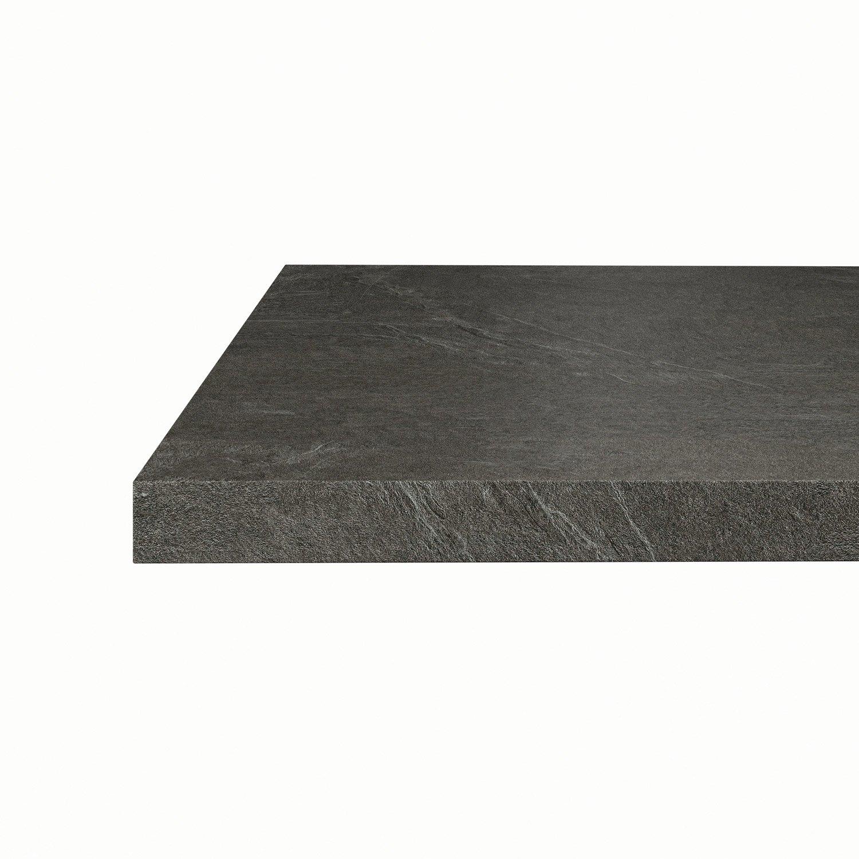 plan snack stratifi luna noir mat x cm. Black Bedroom Furniture Sets. Home Design Ideas