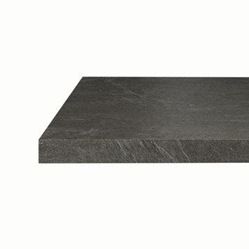 plan snack stratifi luna noir mat x cm mm. Black Bedroom Furniture Sets. Home Design Ideas