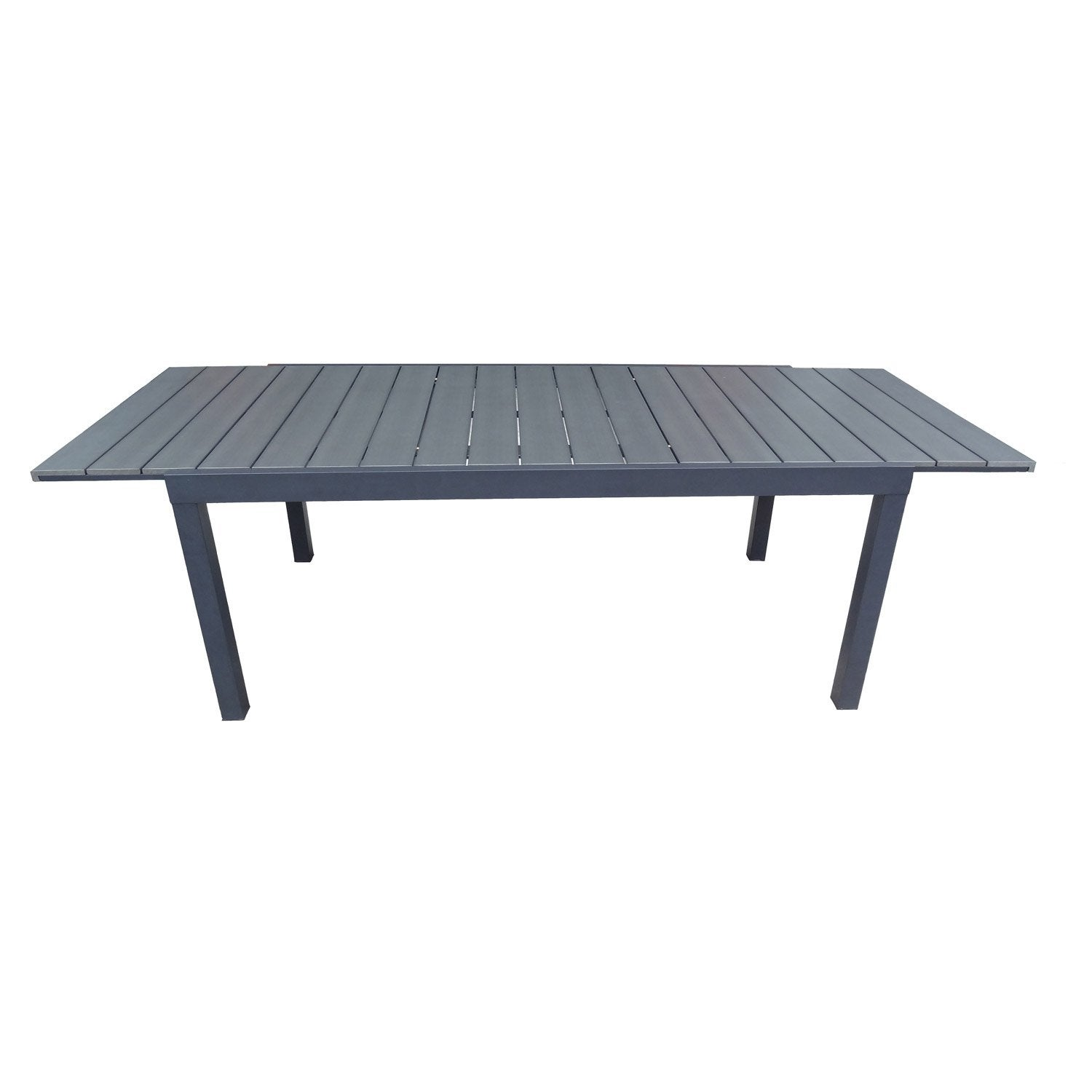 Table de jardin naterial pratt rectangulaire gris 6 for Table de 6 9