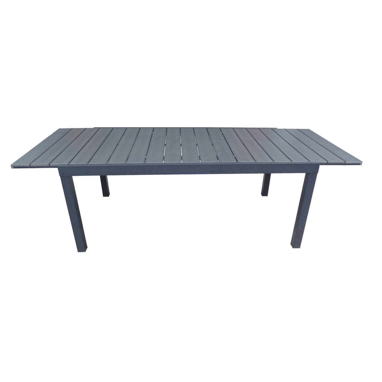 Table de jardin NATERIAL Pratt rectangulaire gris 6 personnes ...